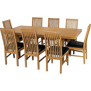 Franklin Extendable Dining Table-8 Black Paris Chairs.