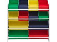 Bargain! Toy storage- 4 Tier White Child's Storage Unit