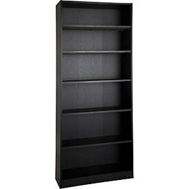 Maine Tall and Wide Extra Deep Bookcase - Black Ash