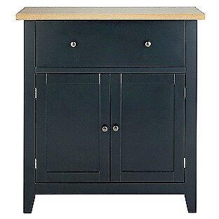 Hygena Luna 2 Door 1 Drawer Sideboard - Black
