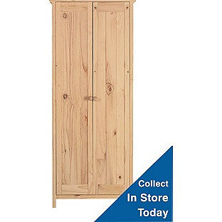 Scandinavia 2 Door Wardrobe - Pine