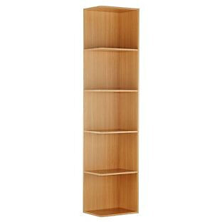 Single Open End Tall Bookcase - Oak Effect
