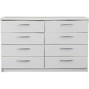 New Hallingford 4+4 Drawer Chest - White