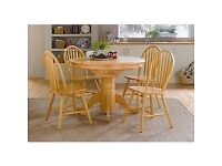 Kentucky fixed top table and 4 chairs - Natural
