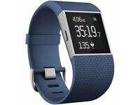 Sport GPS Watch - Fitbit Surge Blue - Large