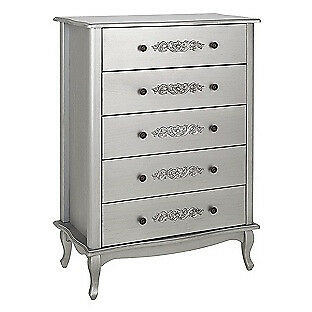 Sophia 5 Drawer Chest - Silver.