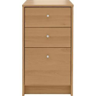 Malibu 3 Drawer Filing Cabinet - Oak Effect