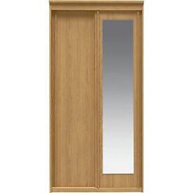 New Hallingford 2 Door Sliding Mirror Wardrobe - Oak Effect