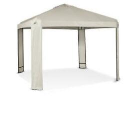 Square Garden Gazebo with Steel Frame