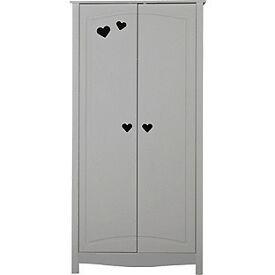 Mia 2 Door Wardrobe - White