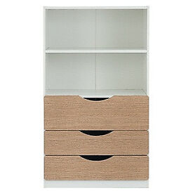 Tolga 3 Drawer Bookcase - Oak