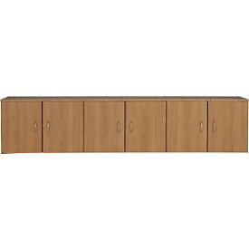 Cheval Overbed Cupboards - Oak Effect