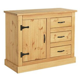 San Diego 1 Door 3 Drawer Sideboard - Solid Pine