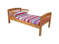 Antique Pine Toddler Bed Frame - Natural