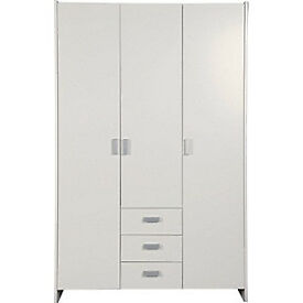 New Capella 3 Door 3 Drawer Wardrobe - Soft White