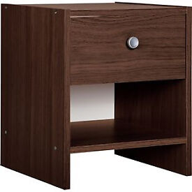 Seville 1 Drawer Bedside Chest - Wenge Effect