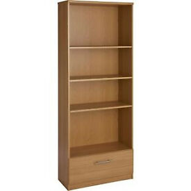 Anderson 1 Drawer Tall Bookcase - Oak Effect