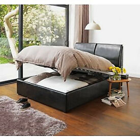 Hygena Vince Double Ottoman Bed Frame - Black.