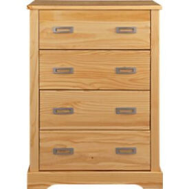 Mendoza 4 Drawer Chest - Pine Effect