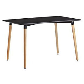 Hygena Charlie 120cm Dining Table - Black