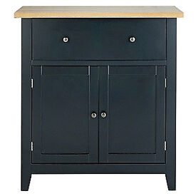 Hygena Luna 2 Door 1 Drawer Sideboard - Black.