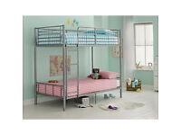 Maddison Single Bunk Bed Frame - Silver
