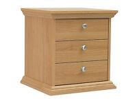 Canterbury 3 Drawer Bedside Chest - Oak effect