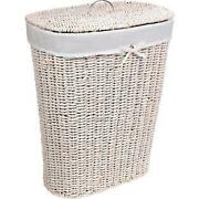 White Laundry Basket