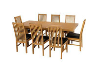 Franklin Extendable Dining Table-8 Chocolate Paris Chairs.