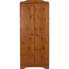 Nordic 2 Door Wardrobe - Pine