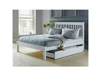 Aspley Double Bed Frame - White