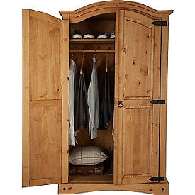 Puerto Rico 2 Door Wardrobe - Light Pine