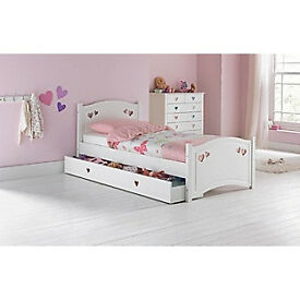 Mia Single Bed Frame - White