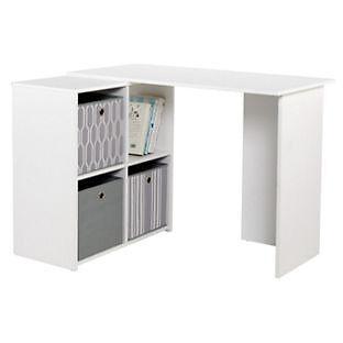 Calgary Corner Desk - White
