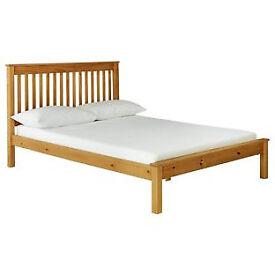 Aspley Double Bed Frame - Oak Stain