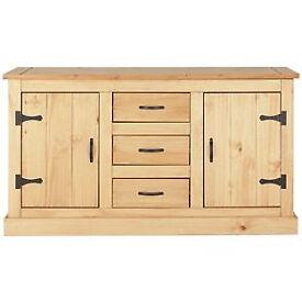 San Diego 2 Door 3 Drawer Sideboard - Solid Pine