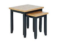 Hygena Luna Nest of 2 Tables - Black