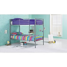 Samuel Single Bunk Bed Frame - Silver