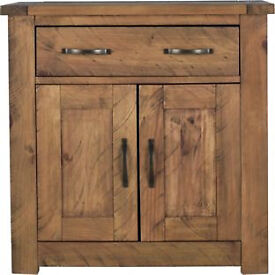 Fully assembled Harvard 2 Door 1 Drawer Sideboard - Solid Pine
