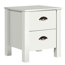 Marlow 2 Drawer Bedside Chest - White