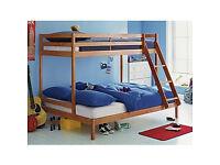 Triple Bunk Bed - Pine