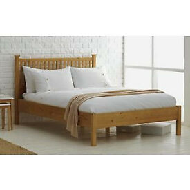 Adalia Double Bed Frame - Oak Stain
