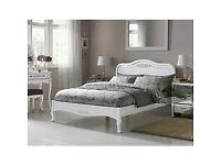 Sophia Kingsize Bed Frame - White