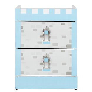 Castle 2 drawer bedside - Blue