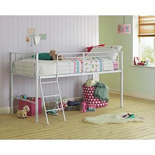 Lucas Mid Sleeper Bed Frame - White
