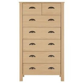 Marlow 5 + 2 Drawer Chest - Oak Effect.
