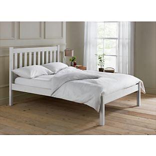 aspley kingsize bed frame white - White King Size Bed Frame