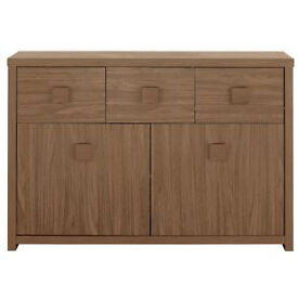 Eden 2 Door 3 Drawer Sideboard - Walnut Effect