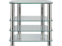 Hygena Matrix Small TV Unit - Clear Glass