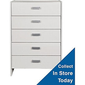 New Capella 5 Drawer Chest - Soft White